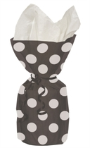 20 Decorative Dots Midnight Black Cello Bags