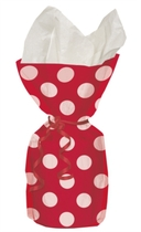 20 Decorative Dots Ruby Red Cello Bags