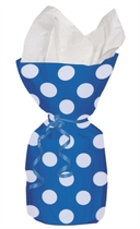 20 Decorative Dots Navy Blue Cello Bags
