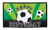 Polyester Happy Birthday Football Flag Banner 90x150cm