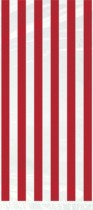 Red Stripes Cello Bags 20pk