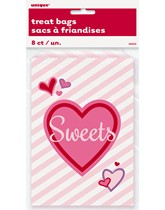 Valentine's Day Paper Sweet Bags 8pk