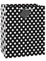 Black Dots Large Gift Bag