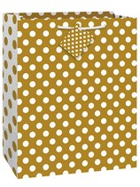Gold Dots Large Gift Bag
