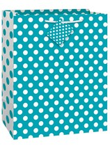 Caribbean Teal Dots Large Gift Bag