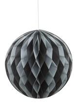 Black & Silver Hanging Honeycomb Decoration
