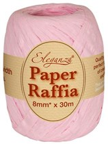 Light Pink Paper Raffia Balloon Ribbon 30m