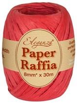 Red Paper Raffia Balloon Ribbon 30m