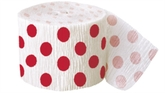 Decorative Dots Ruby Red Crepe Streamer 30ft
