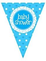 Baby Shower Blue Flag Banner 3.9M