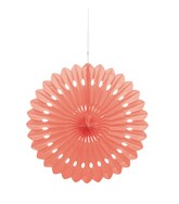 "Coral Tissue 16"" Decor Fan"