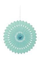 "Mint Tissue 16"" Decor Fan"