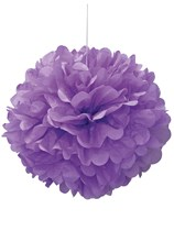 Pretty Purple Puffball Hanging Decoration