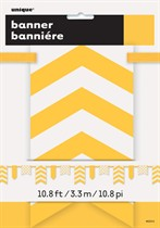 Yellow Dots & Stripes Flag Banner