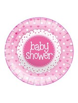 Baby Shower Pink Plates 8pk