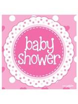 Baby Shower Pink Napkin 16pk