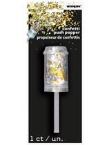 Gold & Silver Confetti Push Popper