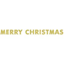 Merry Christmas Glitter Letter Banner 9ft