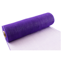 Eleganza Purple Deco Mesh 25cm x 9.1m (10yds)