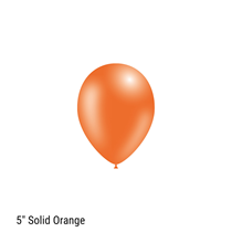 "Decotex Pro Solid Orange 5"" Latex Balloons 100pk"