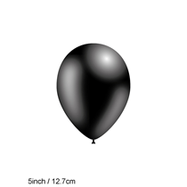 "Decotex Pro Solid Black 5"" Latex Balloons 100pk"