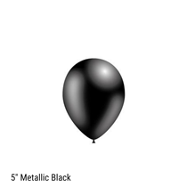 "Decotex Pro Metallic Black 5"" Latex Balloons 100pk"