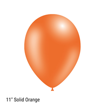 "Decotex Pro Solid Orange 11"" Latex Balloons 50pk"