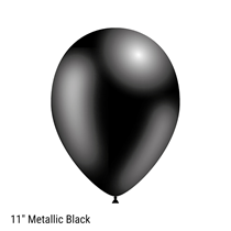 "Decotex Pro Metallic Black 11"" Latex Balloons 50pk"