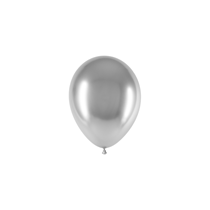 "Decotex Chromium Silver 5"" Latex Balloons 50pk"