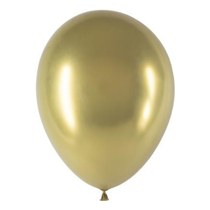 "Decotex Pro Gold Chromium 11"" Latex Balloons 25pk"