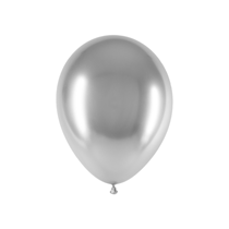 "Decotex Chromium Silver 11"" Latex Balloons 25pk"