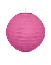 Hot Pink Hanging Paper Lantern