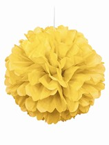 Yellow Pom Pom Hanging Decoration
