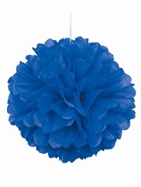 Blue Pom Pom Hanging Decoration