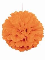 Orange Pom Pom Hanging Decoration