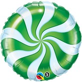 "Green Candy Swirl 18"" Foil Balloon"