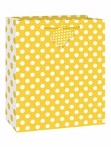 Medium Sunflower Yellow Polka Dot Gift Bag