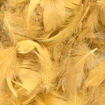 Eleganza Gold Mixed Feathers 50g