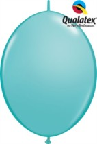 "12"" Caribbean Blue Quick Link Latex Balloons - 50pk"