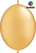 "12"" Gold Quick Link Latex Balloons - 50pk"