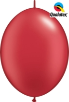 """12"""" Pearl Ruby Red Quick Link Latex Balloons - 50pk"""