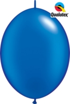 """12"""" Pearl Sapphire Blue Quick Link Latex Balloons - 50pk"""