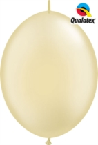 """12"""" Pearl Ivory Quick Link Latex Balloons - 50pk"""