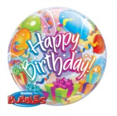 "22"" Happy Birthday Bubble Balloon"