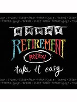Happy Retirement Chalk Luncheon Napkins 16pk
