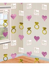 Love Always & Forever Hanging String Decorations 6pk