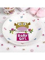 Little Owls Baby Girl Paper Plates 8pk