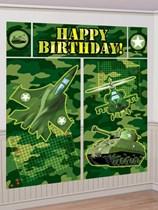Camouflage Happy Birthday Wall Decorating Kit