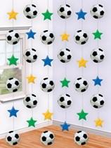 Football Hanging String Decorations 6pk
