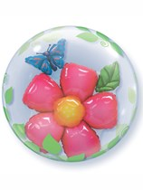 Flower Double Bubble Balloon 24""